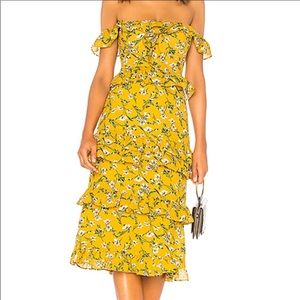 Tularosa Lily Yellow Dress